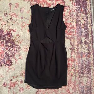 NWOT Lulus Black Formal Dress with Cutout